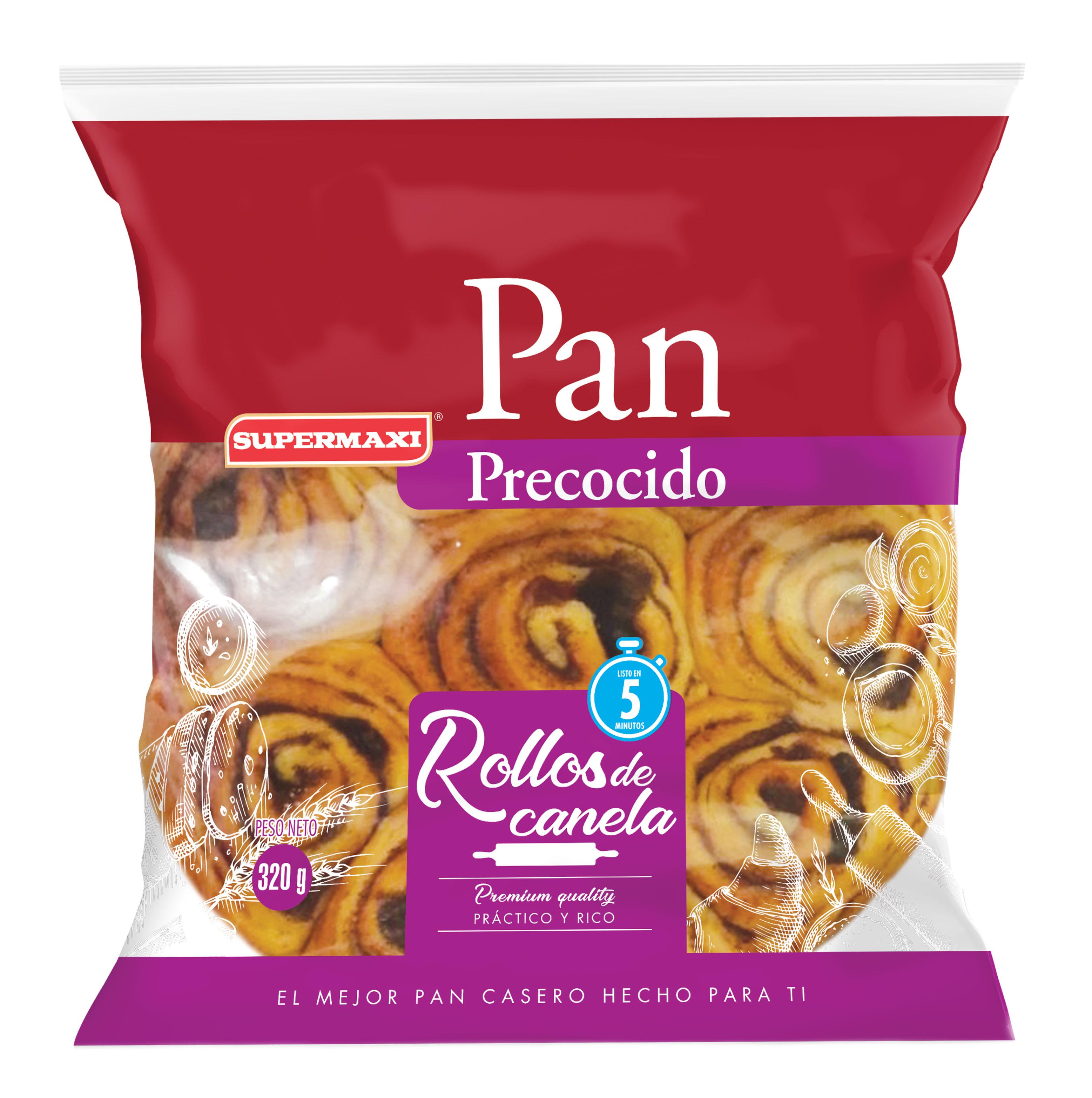 PAN PRECOCIDO ROLLOS DE CANELA