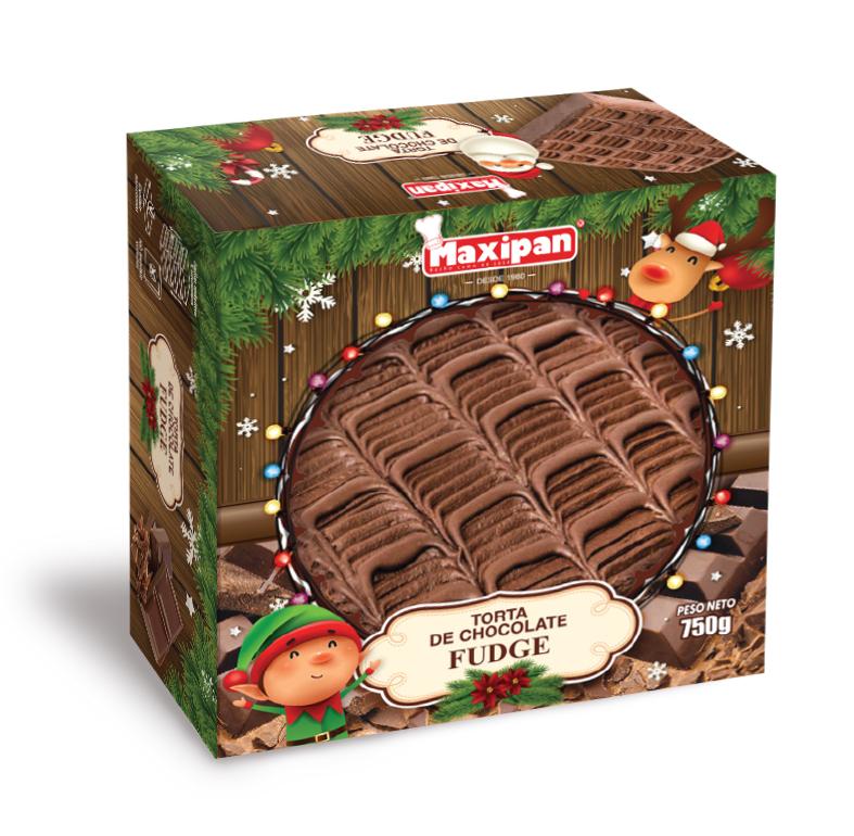 TORTA CHOCOLATE FUDGE NAVIDEÑA